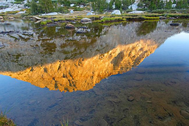 Fletcher Peak reflected in Fletcher lake