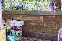 """The Children's Gate at the East 64th Street entrance to Central Park is seen on Sunday, October 20, 2013. The park has 20 """"gates"""", which the park's commissioner named, representing the professions and avocations of those who might use the facility.   (© Richard B. Levine)"""