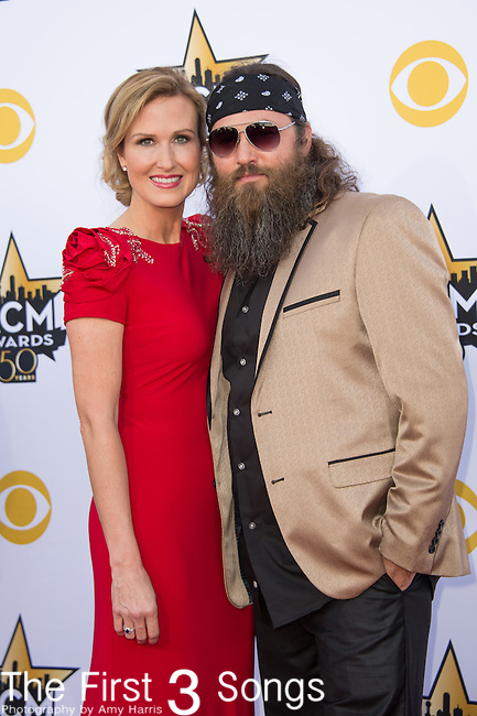 Korie Robertson and Willie Robertson attend the 50th Academy Of Country Music Awards at AT&T Stadium on April 19, 2015 in Arlington, Texas.