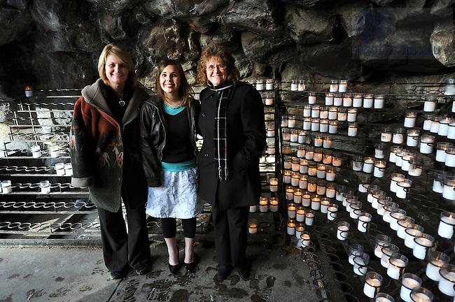 The PrayND team:  From left, Kathleen Sullivan, Christina Sullivan and Marian Appleton.
