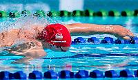 Picture by Alex Whitehead/SWpix.com - 06/04/2018 - Commonwealth Games - Swimming - Optus Aquatics Centre, Gold Coast, Australia - David Cumberlidge of England during the Men's 4x100m Freestyle Relay heats.