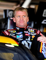 Feb 20, 2009; Fontana, CA, USA; NASCAR Sprint Cup Series driver Jeff Burton during practice for the Auto Club 500 at Auto Club Speedway. Mandatory Credit: Mark J. Rebilas-