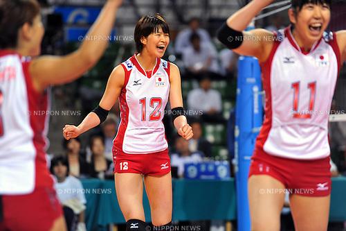 Saori Kimura (JPN),  AUGUST 20, 2011 - Volleyball : 2011 FIVB World Grand Prix Pool L,match between Japan 3-0 Korea at Ariake Colosseum, Tokyo, Japan. (Photo by Jun Tsukida/AFLO SPORT) [0003]
