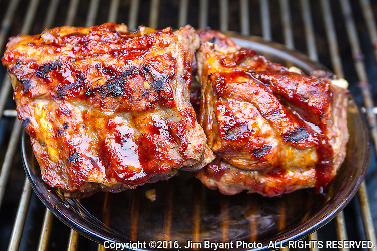BBQ Ribs.  ©2016. Jim Bryant Photo. ALL RIGHTS RESERVED.