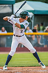 31 July 2016: Vermont Lake Monsters infielder Eli White in action against the Connecticut Tigers at Centennial Field in Burlington, Vermont. The Lake Monsters edged out the Tigers 4-3 in NY Penn League action.  Mandatory Credit: Ed Wolfstein Photo *** RAW (NEF) Image File Available ***