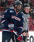 Joseph Masonius (UConn - 13), Kevin Keenan - The University of Maine Black Bears defeated the University of Connecticut Huskies 4-0 at Fenway Park on Saturday, January 14, 2017, in Boston, Massachusetts.