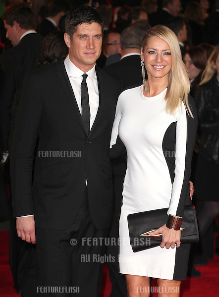 Vernon Kaye and Tess Daly arriving for the Royal World Premiere of 'Skyfall' at Royal Albert Hall, London. 23/10/2012 Picture by: Alexandra Glen / Featureflash