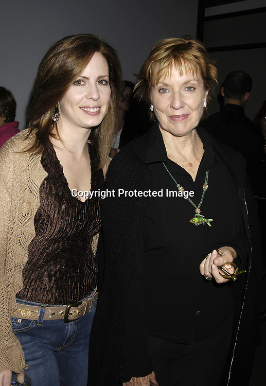 Martha Byrne and ELizabeth Hubbard..at at reception in honor of Mary Alice Dwyer-Dobbin on her ..leaving P and G on September 29, 2005 at the offices of ..P and G. ..Photo by Robin Platzer, Twin Images