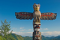 Totem pole<br /> <br /> Malahat Highway on Vancouver Islan<br /> British Columbia<br /> Canada