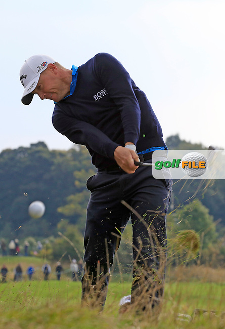 Alex Noren (SWE) in action during round 2 of the British Masters played at The Grove, Chandler's Cross, Watford, England.  14/10/2016<br /> Picture: Golffile | Phil Inglis<br /> <br /> <br /> All photo usage must carry mandatory copyright credit (&copy; Golffile | Phil Inglis)