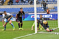 Francesco Acerbi of Lazio (L) scores second goal for his side during the Serie A 2018/2019 football match between SS Lazio and Cagliari at stadio Olimpico, Roma, December 22, 2018 <br />  Foto Andrea Staccioli / Insidefoto
