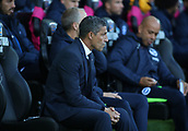 4th November 2017, Liberty Stadium, Swansea, Wales; EPL Premier League football, Swansea City versus Brighton and Hove Albion; Chris Hughton, Manager of Brighton watches on from the bench