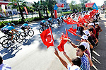 Action from Stage 1 of the Presidential Cycling Tour of Turkey 2017 running 176.7km from Alanya to Kemer, Turkey. 10/10/2017.<br /> Picture: Brian Hodes/VeloImages | Cyclefile<br /> <br /> <br /> All photos usage must carry mandatory copyright credit (&copy; Cyclefile | Brian Hodes/VeloImages)