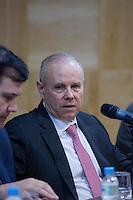 SAO PAULO, SP, 15.09.2014 - GUIDO MANTEGA- FORUM DE ECONOMIA - SP - Ministro da Fazenda, Guido Mantega Participa da abertura do 11° Fórum de Economia da Escola de Economia de São Paulo (EESP) da Fundação Getúlio Vargas (FGV) NESTA SEGUNDA FEIRA (15). (Foto: Marcelo Brammer / Brazil Photo Press).