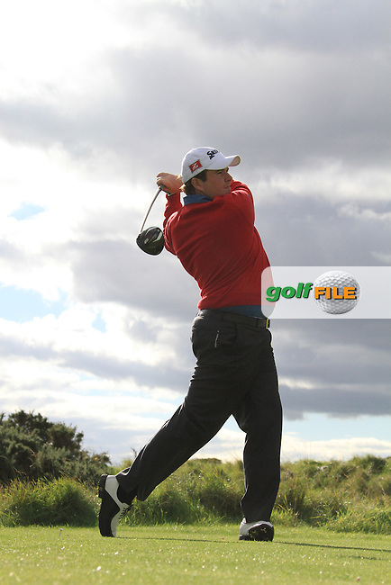 Day two of the Irish PGA championship at Seapoint Golf Club in Co Louth..Shane Lowery teeing off on the 8th.Picture Fran Caffrey/www.golffile.ie.