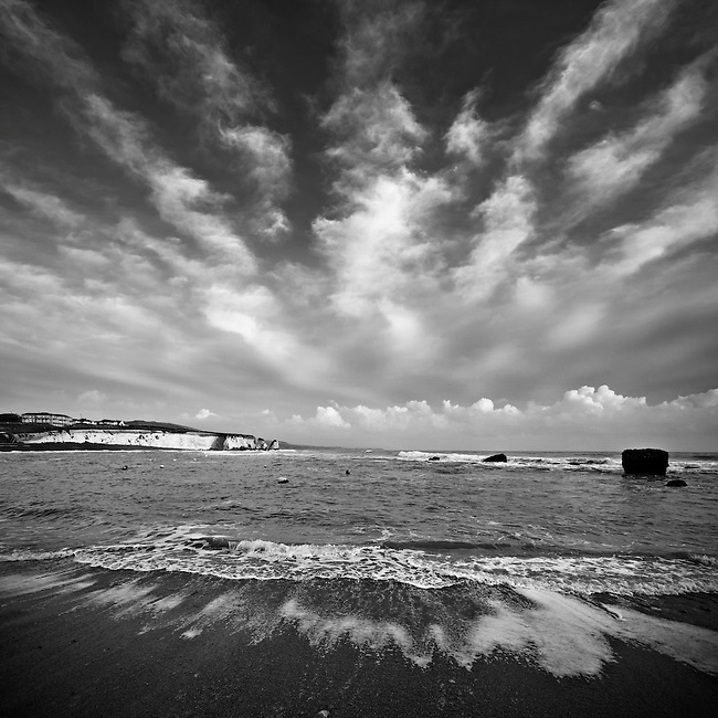 Alto-cumulus skies over the Isle of Wight