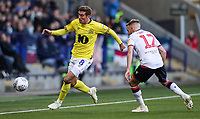 Bolton Wanderers' Craig Noone competing with Blackburn Rovers' Joe Rothwell<br /> <br /> Photographer Andrew Kearns/CameraSport<br /> <br /> The EFL Sky Bet Championship - Bolton Wanderers v Blackburn Rovers - Saturday 6th October 2018 - University of Bolton Stadium - Bolton<br /> <br /> World Copyright &copy; 2018 CameraSport. All rights reserved. 43 Linden Ave. Countesthorpe. Leicester. England. LE8 5PG - Tel: +44 (0) 116 277 4147 - admin@camerasport.com - www.camerasport.com