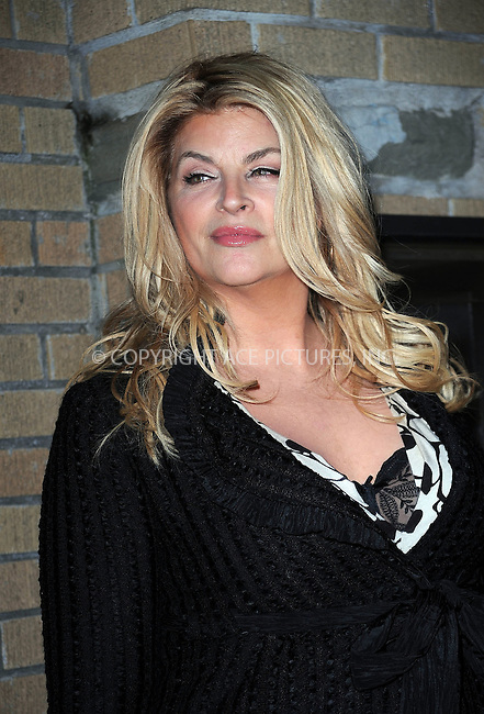 WWW.ACEPIXS.COM . . . . . ....March 17 2010, New York City....Actress Kirstie Alley arriving at the premiere of 'The Runaways' at Landmark Sunshine Cinema on March 17, 2010 in New York City. ....Please byline: KRISTIN CALLAHAN - ACEPIXS.COM.. . . . . . ..Ace Pictures, Inc:  ..(212) 243-8787 or (646) 679 0430..e-mail: picturedesk@acepixs.com..web: http://www.acepixs.com