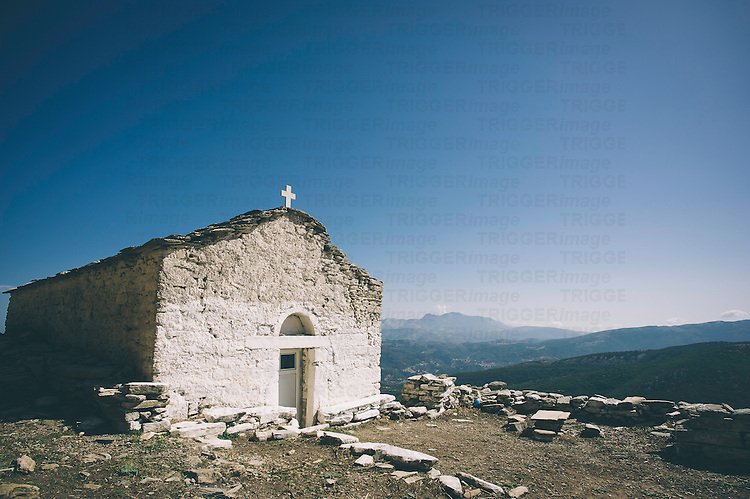 A white church in Greece