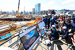 General view, MARCH 20, 2017 : Construction of Tokyo 2020 new stadium continues. (Photo by Sho Tamura/AFLO SPORT)