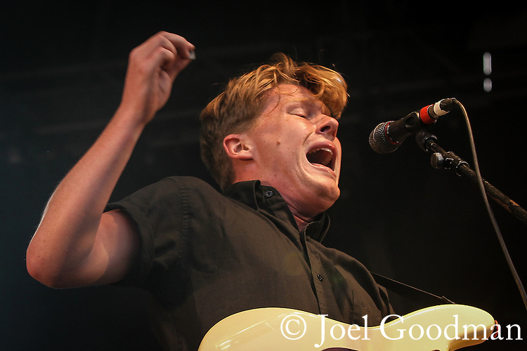 © Joel Goodman - 07973 332324 . 31 August 2013 . Rochdale , UK . Band , The Crookes , perform on the stage . The Rochdale Feel Good Festival . Photo credit : Joel Goodman