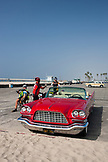 CALIFORNIA, Los Angeles, 1959 Red Chrysler 300 Convertible on Venice Beach