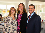 WATERBURY,  CT-102319JS07-  Jennifer Carbunaro and Kathy Luria, both with Webster Bank and Thomas Burden with People's United Bank, at the United Way of Greater Waterbury's 45th annual meeting held Wednesday at the Country Club of Waterbury. <br /> Jim Shannon Republican-American