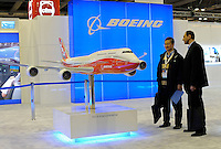 Boeing at Asian Aerospace 2011 (Asian Aerospace International Expo and Congress) held in Hong Kong's Asia World Expo, Hong Kong, China. Boeing is the world's largest aerospace company and leading manufacturer of commercial jetliners and defense, space and security systems. A top U.S. exporter, the company supports airlines and U.S. and allied government customers in more than 90 countries. Asian Aerospace is the world's largest single-focused exhibition and congress for the commercial aerospace and civil aviation market with particular emphasis on the Asia-Pacific region. This year a record of 270 exhibitors from 32 countries, and the number of Chinese companies increased by 42% comparing to last year..09 Mar 2011
