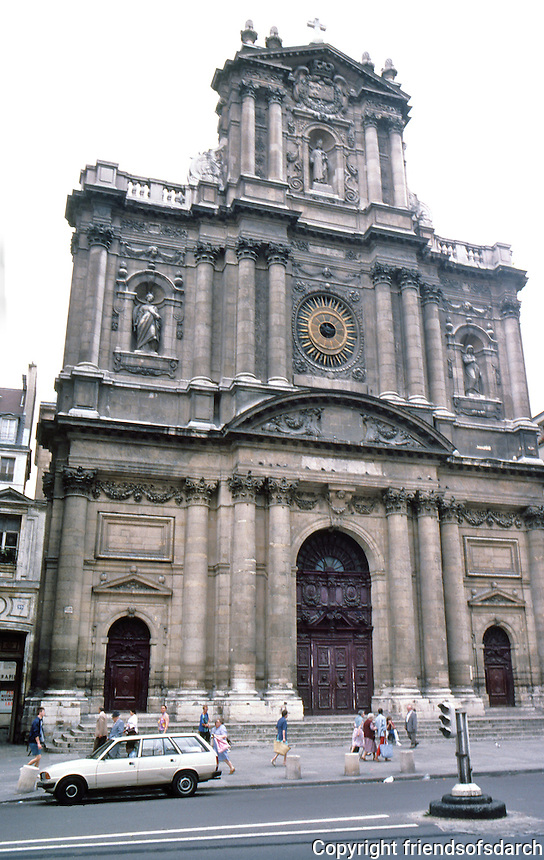 Paris: Church of St. Paul--St. Louis, 1627-1641. A Jesuit church built on land donated by Louis XIII. Rue St. Antoine in the Marais. Photo '87.