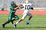 Torrance, CA 10/06/11 - Jaquan Young (Peninsula #10) in action during the Peninsula vs South Torrance Frosh football game.