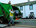 Dustcart, Distington.<br /> <br /> &ldquo;It&rsquo;s mostly paper that is put in the truck.  A lot of the stuff that we put in there could be recycled.&rdquo;<br /> Dustman