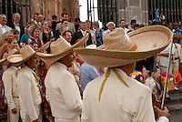 Mariachis seranading at a Mexican wedding in San Miguel de Allende, Mexico