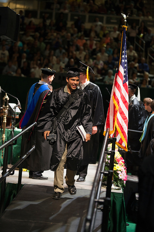 Eli Hiller at Undergraduate Commencement ©Ohio University/ Photo by Kaitlin Owens