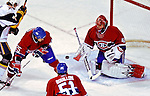 31 March 2007: Montreal Canadiens goaltender Jaroslav Halak (41) of Slovakia in action against the Buffalo Sabres at the Bell Centre in Montreal, Canada...Mandatory Photo Credit: Ed Wolfstein Photo *** Editorial Sales through Icon Sports Media *** www.iconsportsmedia.com