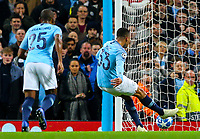 Manchester City's Gabriel Jesus slots his side's second goal from the penalty spot<br /> <br /> Photographer Alex Dodd/CameraSport<br /> <br /> UEFA Champions League Group F - Manchester City v Shakhtar Donetsk - Wednesday 7th November 2018 - City of Manchester Stadium - Manchester<br />  <br /> World Copyright © 2018 CameraSport. All rights reserved. 43 Linden Ave. Countesthorpe. Leicester. England. LE8 5PG - Tel: +44 (0) 116 277 4147 - admin@camerasport.com - www.camerasport.com
