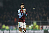 Burnley's Matthew Lowton looks dejected as he applauds the fans at the final whistle<br /> <br /> Photographer Rich Linley/CameraSport<br /> <br /> The Premier League - Burnley v Everton - Wednesday 26th December 2018 - Turf Moor - Burnley<br /> <br /> World Copyright &copy; 2018 CameraSport. All rights reserved. 43 Linden Ave. Countesthorpe. Leicester. England. LE8 5PG - Tel: +44 (0) 116 277 4147 - admin@camerasport.com - www.camerasport.com