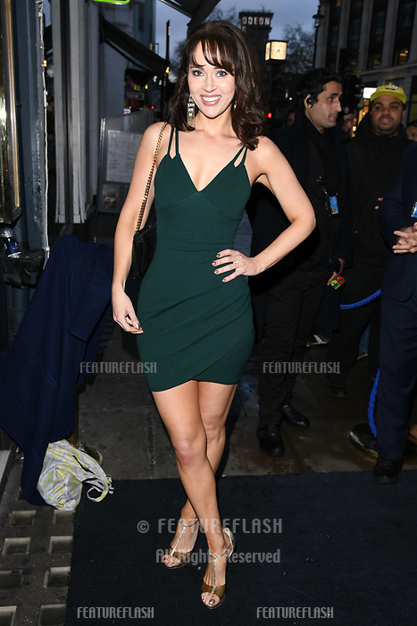 Hayley Sparkes arriving for James Ingham's Jog on to Cancer 2018 at Cafe de Paris, London, UK. <br /> 04 April  2018<br /> Picture: Steve Vas/Featureflash/SilverHub 0208 004 5359 sales@silverhubmedia.com