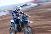 Yamaha rider at Spanish Motocross Championship at Albaida circuit (Spain), 22-23 February 2014