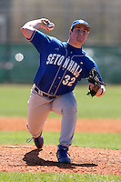 February 26, 2010:  Pitcher Ryan Harvey (32) of the Seton Hall Pirates during the Big East/Big 10 Challenge at Raymond Naimoli Complex in St. Petersburg, FL.  Photo By Mike Janes/Four Seam Images