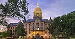 7.12.16 Main Building Dusk.JPG by Matt Cashore/University of Notre Dame