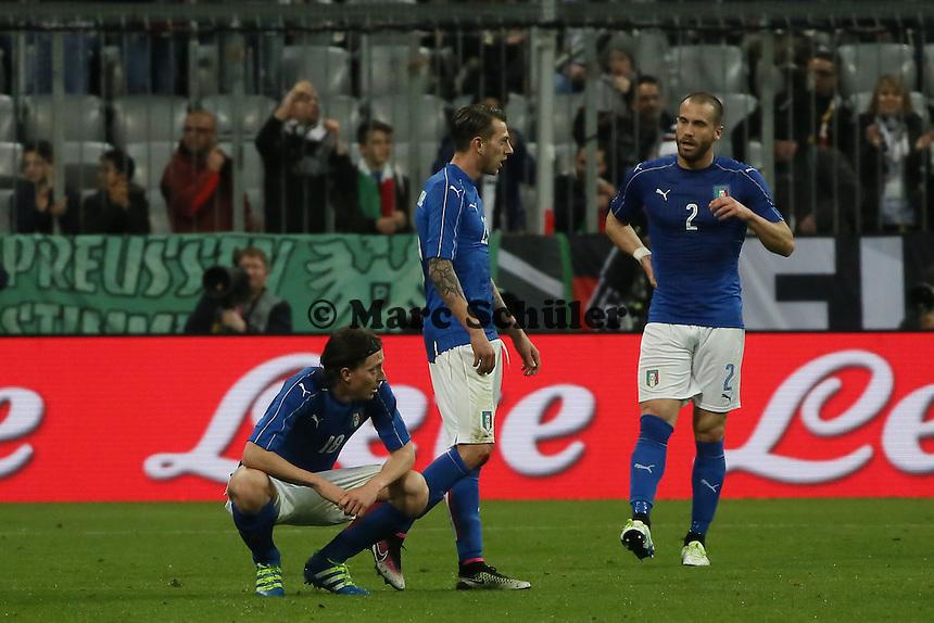 Frust Italien nach dem 4:1 - Deutschland vs. Italien, Allianz Arena München