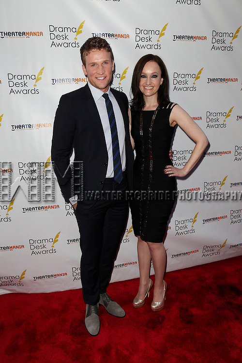 Claybourne Elder and Melissa van der Schyff pictured at the 57th Annual Drama Desk Awards held at the The Town Hall in New York City, NY on June 3, 2012. © Walter McBride