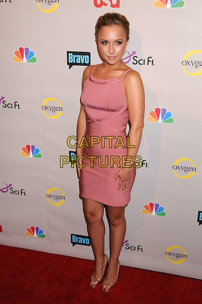 HAYDEN PANETTIERE .NBC Universal 2008 Press Tour All-Star Party at the Beverly Hilton Hotel, Beverly Hills, California, USA..July 20th, 2008.full length dress pink satin shoes .CAP/ADM/BP.©Byron Purvis/AdMedia/Capital Pictures.