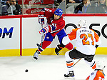 7 December 2009: Montreal Canadiens' center Scott Gomez in action against the Philadelphia Flyers at the Bell Centre in Montreal, Quebec, Canada. The Canadiens defeated the Flyers 3-1. Mandatory Credit: Ed Wolfstein Photo