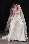 Model walks runway in a Charleston bridal gown from the Naeem Khan Bridal Spring 2017 collection at 260 West 36 Street, during New York Bridal Fashion Week Spring Summer 2017 on April 16, 2016.