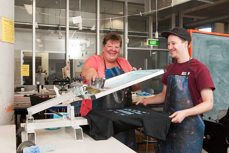 Adelaide College of Arts, Screen Printing.