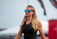 Sep 29, 2019; Madison, IL, USA; NHRA top fuel driver Leah Pritchett during the Midwest Nationals at World Wide Technology Raceway. Mandatory Credit: Mark J. Rebilas-USA TODAY Sports