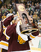 Chad Huttel (Duluth - 26) - The University of Minnesota-Duluth Bulldogs celebrated their 2011 D1 National Championship win on Saturday, April 9, 2011, at the Xcel Energy Center in St. Paul, Minnesota.