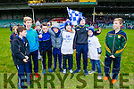 John O'Connell, Cathal O'Shea, Darragh O'Shea, Cian O'Shea, Jack O'Connor, Austin Murphy, Ronan Clifford and Oran O'Shea, St. Mary's fans Cahersiveen attending the football intermediate club championship semi-final, at the Gaelic Grounds, Limerick on Sunday last.