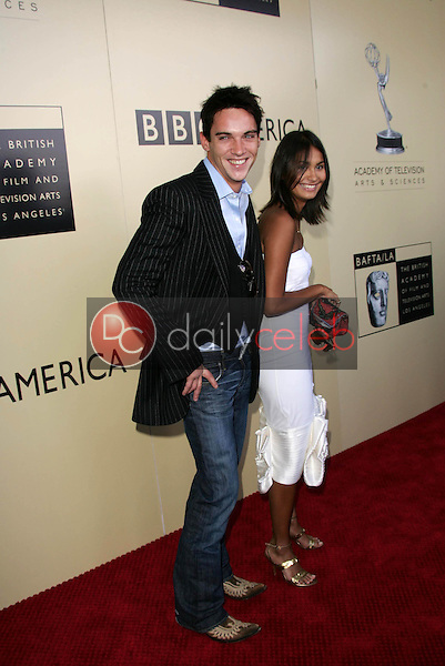 Jonathan Rhys Meyers and friend<br />